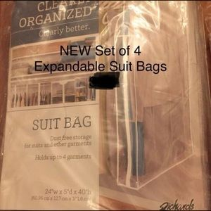 Other - NWT set of 4 Expandable Suit / Garment Bags